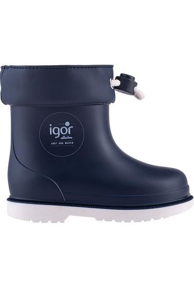 İgor W10225 Bimbi Nautico Erkek/Kız Çocuk Su Geçirmez Yağmur Kar Çizmesi Lacivert