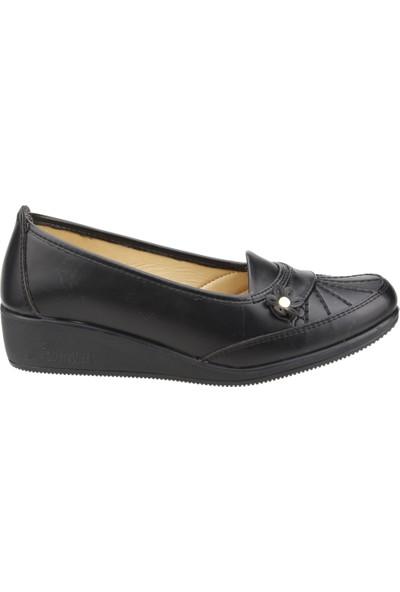 Wanetti Cmf 311 Günlük Büyük Numara Ortopedik Anne Babet Ayakkabı Siyah