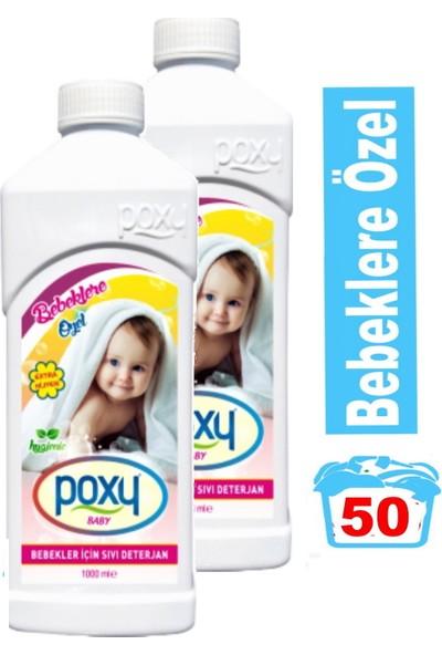 Poxy Bebekler Için Sıvı Deterjan 1000 ml 2'li Set