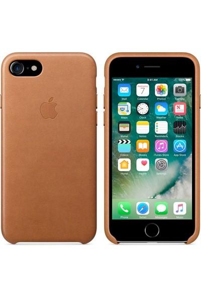 Intouch Apple iPhone 7/8 Deri Kılıf - Kahverengi