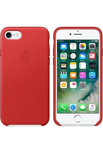 Intouch Apple iPhone 7/8 Deri Kılıf - Kırmızı