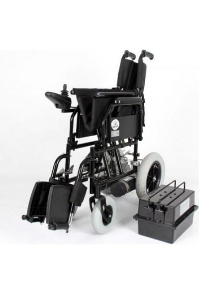 Wollex WG-P100 Standart Akülü Katlanabilir Tekerlekli Sandalye