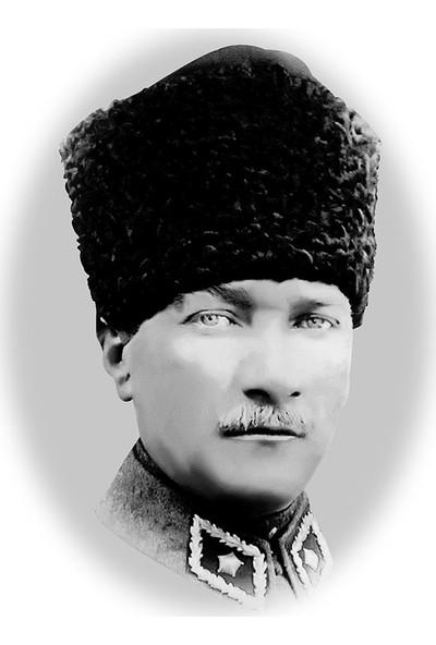 Çerçevelet Karakalem Atatürk Portresi 50 x 70 cm