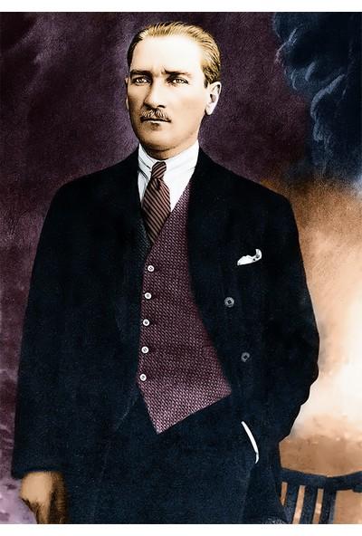 Çerçevelet Mustafa Kemal Atatürk Tablosu 25 x 35 cm