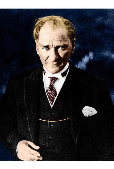 Çerçevelet Renkli Atatürk Portresi 25 x 35 cm