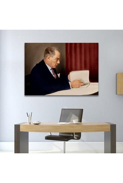 Çerçevelet Atatürk Kitap Okurken 35 x 25 cm