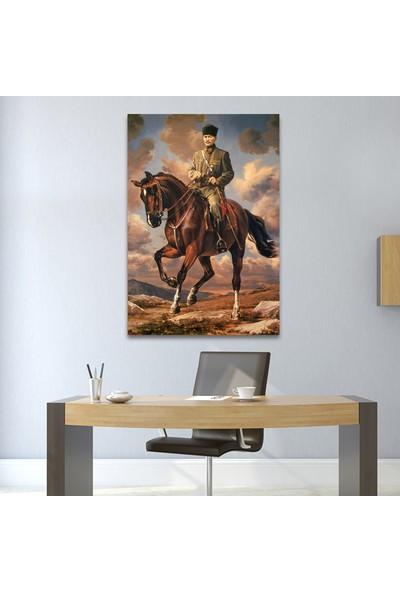 Çerçevelet At Üzerinde Atatürk Posteri 25 x 35 cm