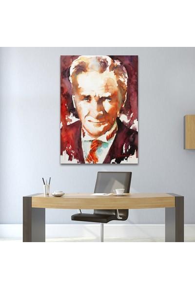 Çerçevelet Sulu Boya Atatürk Portresi 03 25 x 35 cm