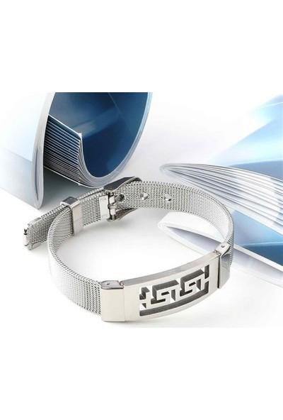 Maliyetine 5P5D10-720 316L Ayar Çelik Hasır Kordonlu Bileklik