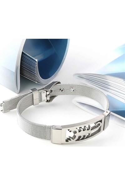 Maliyetine Scorpion Akrep 316L Ayar Çelik Hasır Kordonlu Bileklik
