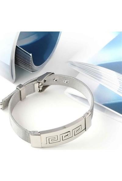 Maliyetine 5P6D18-73 İşlemeli 316L Ayar Çelik Hasır Kordonlu Bileklik