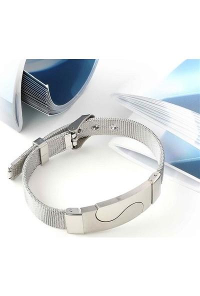 Maliyetine 5P6D8-350 İşlemeli 316L Ayar Çelik Hasır Kordonlu Bileklik