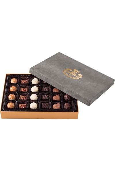 Şekerci Cafer Erol Spesiyal 24'lü Gri Kaz Tüyü Kutu Çikolata