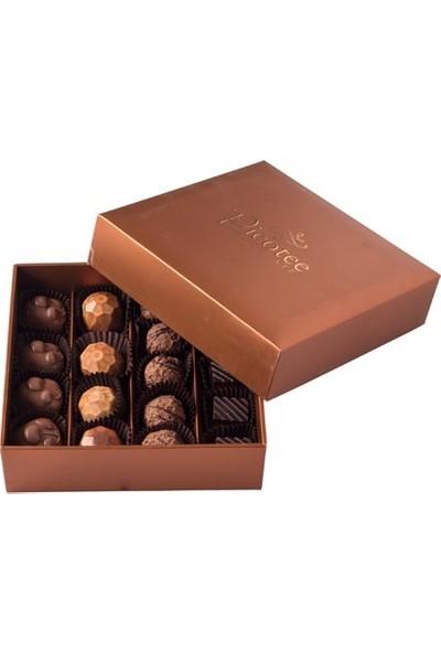 Şekerci Cafer Erol Picotee Kahverengi Kutu Spesiyal 16'lı Çikolata