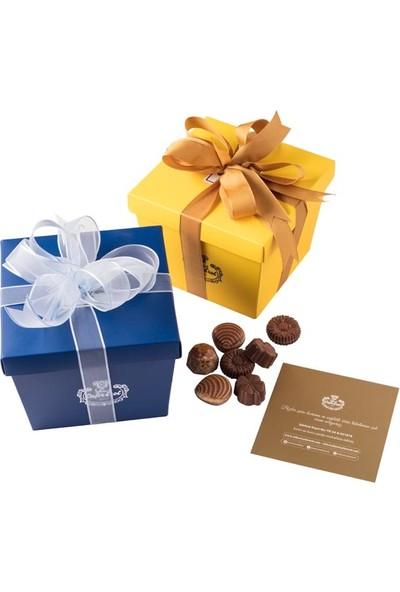 Şekerci Cafer Erol Spesiyal 27'li Renkli Kutu Çikolata - Mavi