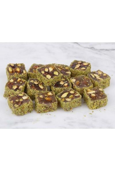 Şekerci Cafer Erol Toz Fıstık Kaplı Sade Antep Fıstıklı Fitil Lokum - 1 kg