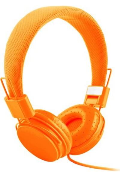Color EP05 Mikrofonlu Kulaküstü Turuncu Kulaklık