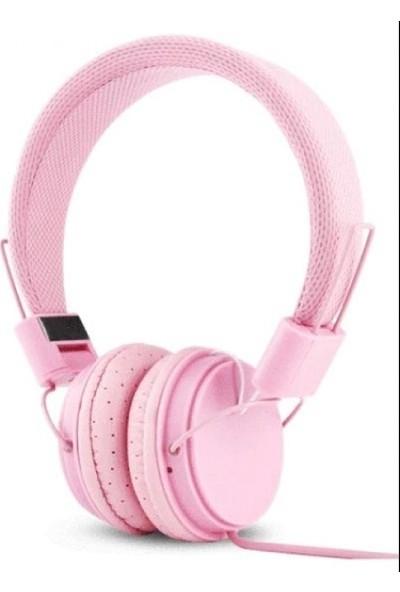 Color EP05 Mikrofonlu Kulaküstü Pembe Kulaklık
