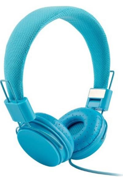 Color EP05 Mikrofonlu Kulaküstü Mavi Kulaklık