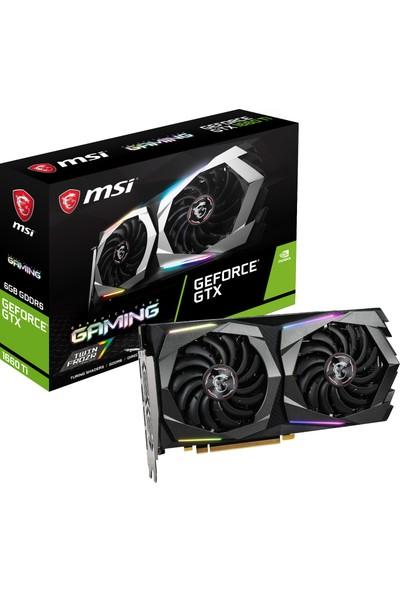 MSI Nvidia GeForce GTX1660 Ti Gaming 6GB 192Bit GDDR6 DX(12) PCI-E 3.0 Ekran Kartı ( GeForce GTX 1660 Ti GAMING 6G )