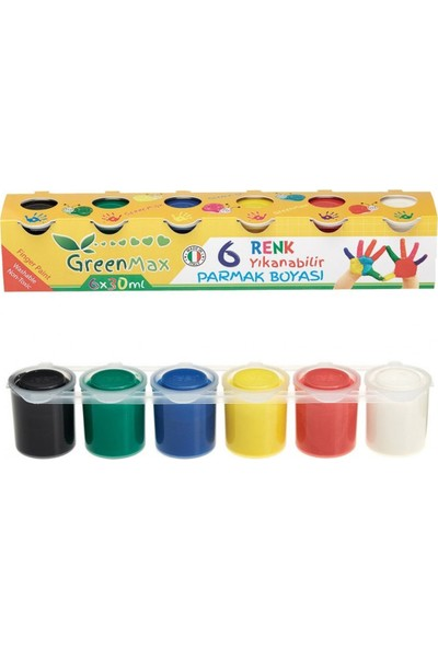 Green Max Parmak Boyası 6 Renk 30 ml