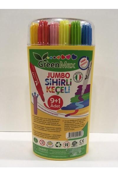 Greenmax Jumbo Sihirli Keçeli Kalem 9+1