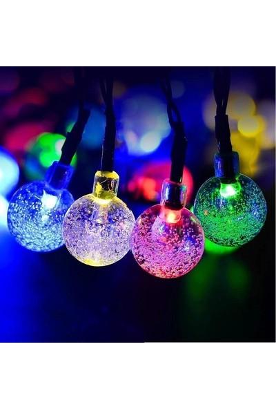 Led Dükkanı 30 LED 5 m Pilli Renkli Ağaç Noel Yılbaşı Bahçe Balkon Lambası Dolama Işık