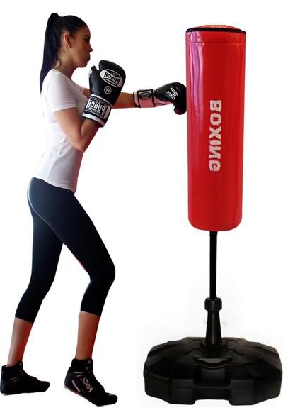 Spor Byfit 150 cm Ayaklı Yaylı Kırmızı Boks Vurma Standı