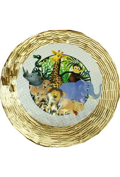 Tahtakale Toptancısı Safari Serisi Hayvanlar Temalı Metalize Pinyata + Sopası 45 x 10 cm