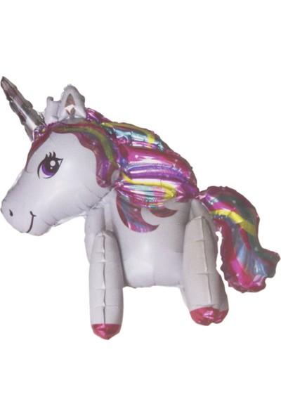 Tahtakale Toptancısı Unicorn Temalı Folyo Balon Tek Boynuzlu At Ayaklı Model 85 x 50 cm