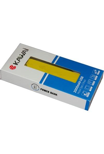 Kawai HKP-013 2600 mAh Powerbank - Sarı