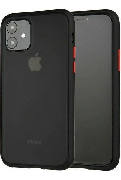 Tbkcase Benks Apple iPhone 11 Kılıf Mat Sert Korumalı Tank Silikon Siyah + Nano Ekran Koruyucu
