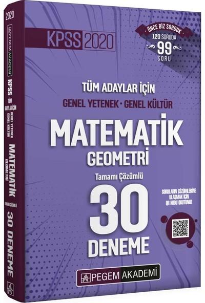 2020 Kpss Genel Yetenek Genel Kültür Matematik - Geometri 30 Deneme