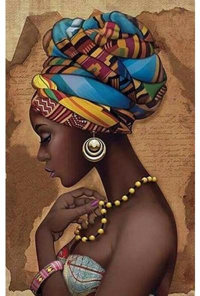 Deko Kanvas Afrikalı Kadın Kanvas Tablo