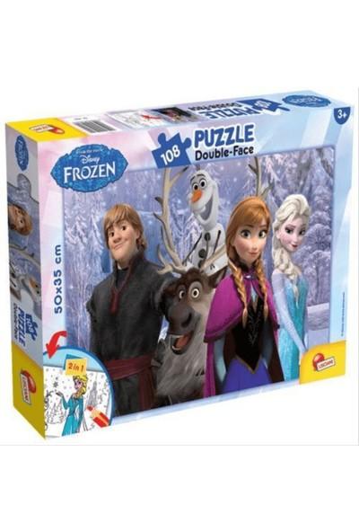 Furkan Toys Frozen Maxi Puzzle 108 Parça - Kalemli