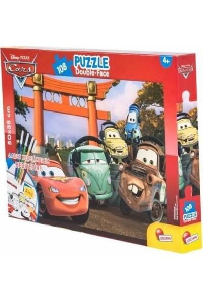 Furkan Toys Şimşek Mcqueen Maxi Puzzle 108 Parça - Kalemli