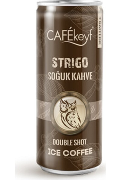 Cafekeyf Strigo Soğuk Kahve 250 ml Slim Kutu Double Shot