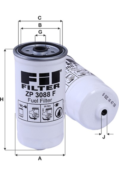 Fil Filter Hyundai Santa Fe 2.0Crdi-3.0Crdi (2001-2002) Mazot Yakıt Filtresi-3192226900-Wk853/14-Kc199-Pp979-