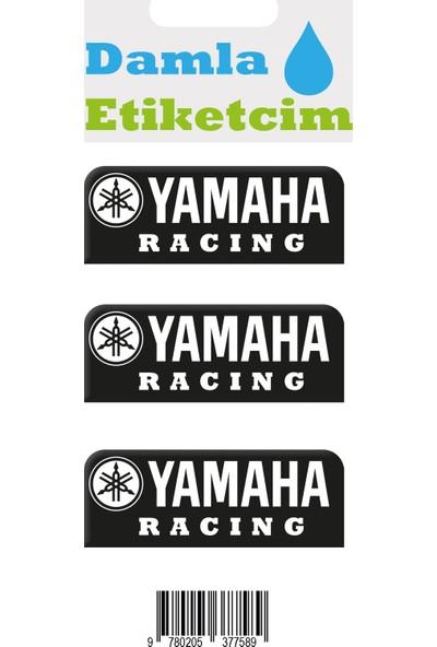 Damla Etiketcim Yamaha 3D Sticker Siyah