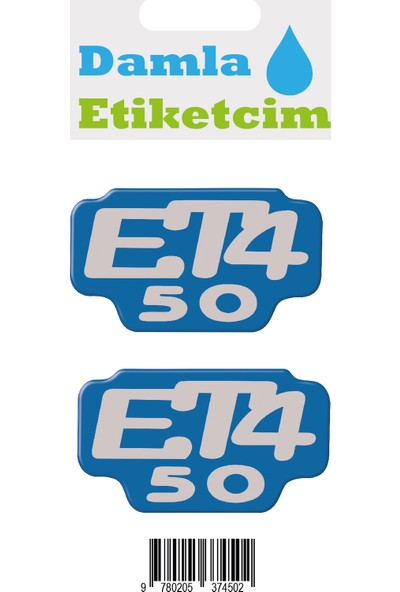 Damla Etiketcim Vespa Et4 50 3D Sticker