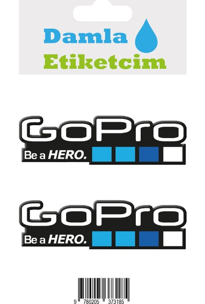 Damla Etiketcim Go Pro 3D Sticker