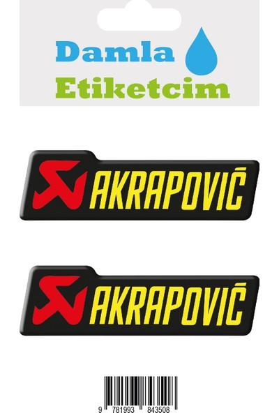 Damla Etiketcim Akrapovic 3D Sticker