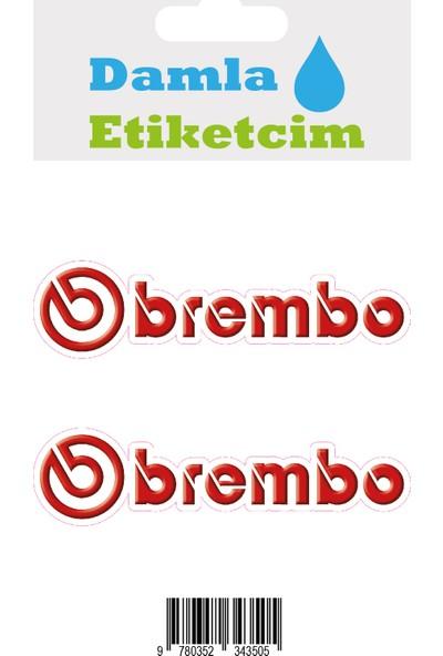 Damla Etiketcim Brembo 3D Sticker