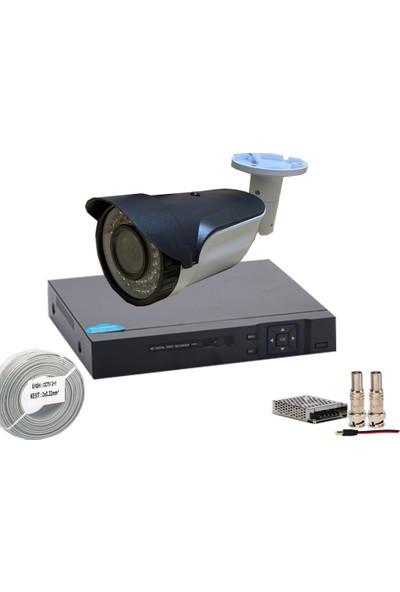 Promise 1 Kameralı Set Ahd 1080P Gece Görüşlü Su Geçirmez İnternetten İzleme Xmeye