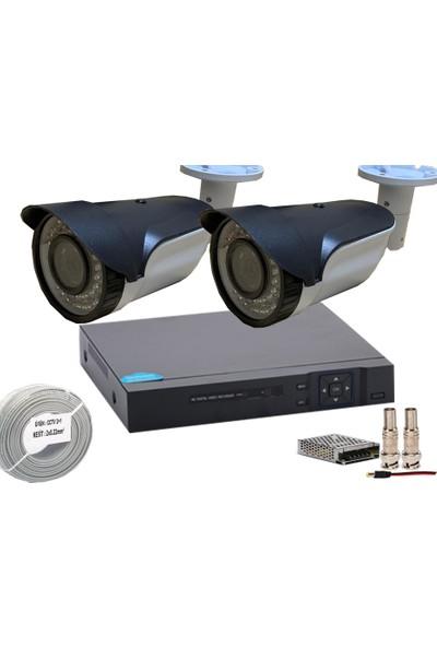 Promise 2 Kameralı Set Ccd 1080p Ahd Gece Görüşlü Güvenlik Kamera Sistemi