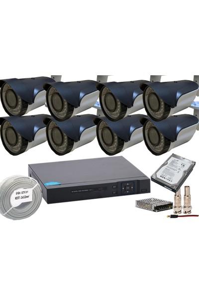 Promise 8 Kameralı Güvenlik Seti HArddisk Dahil 3MP 1080p Ahd