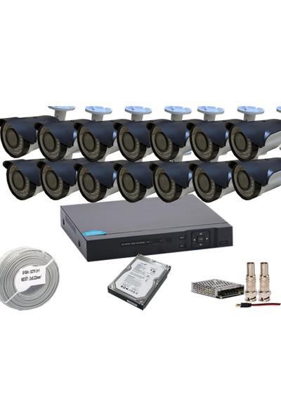 Promise 14 Kameralı Set Harddisk Dahil 3 Mp 1080p Ahd Gece Görüşlü Set