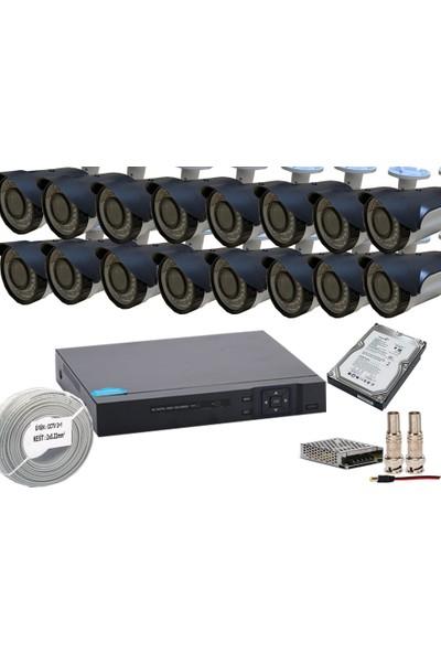 Promise 16 Kameralı Güvenlik Seti Harddisk Dahil Garantili Gece Görüşlü Sistem 3 Mp