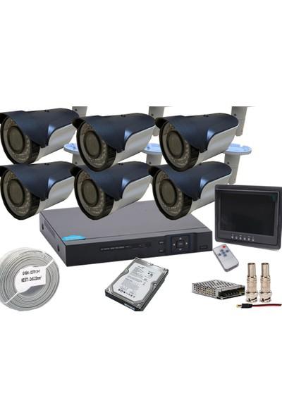 Promise 6 Kameralı Güvenlik Seti Harddisk Ve 7İnç Monitör Dahil