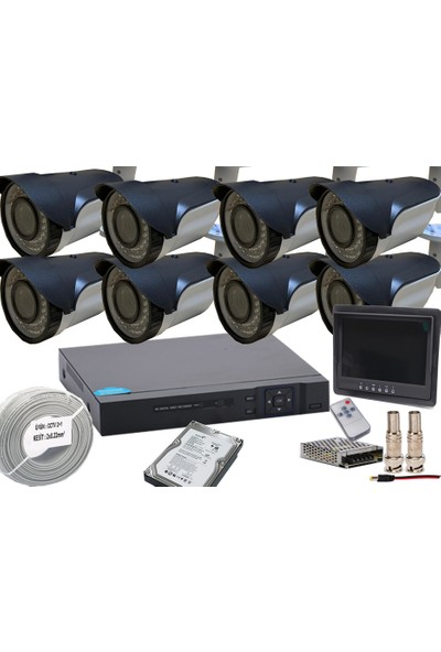 Promise 8 Kameralı Güvenlik Seti Harddisk Ve Monitör Dahil Paket